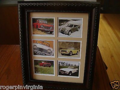 Triumph Tr6 - Reproduction Collectors Cards  In A Frame + Matte