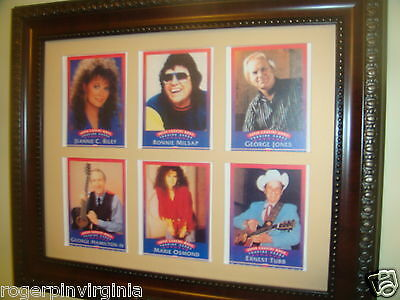 Country Music Legends - Reproduction Collectors Cards  In A Frame + Matte