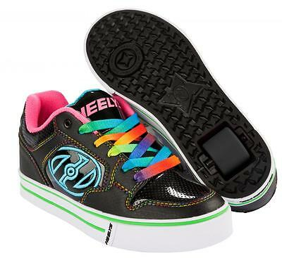 Heelys Motion Plus 770539  Black/Hot Pink/Rainbow Schuhe mit der Rolle  NEU