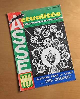 ST. ETIENNE v MANCHESTER UNITED : European Cup Winners Cup 1st Round 14/8/1977