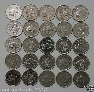 Seychelles 25 coins from 1982-2010 one 1 rupee free shipping