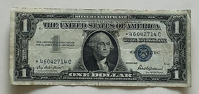 USA 1 Dollar Silver Certificate Series 1957 STAR NOTE One Dollar Banknote 3088