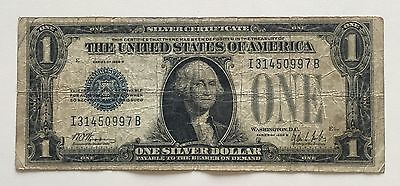 USA 1 Dollar Silver Certificate Series 1928 B One Silver Dollar Banknote 3120