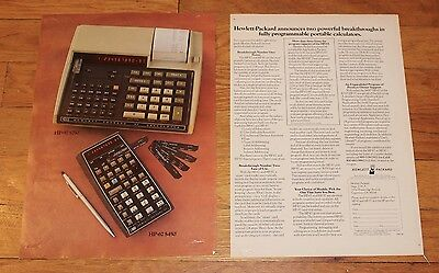 1976 Ad for Hewlett-Packard HP-67 and HP-97 Scientific Calculators