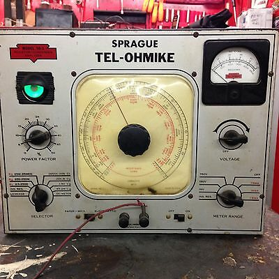 Sprague Tel-Ohmike Resistor Condenser Analyzer, Model TO-3