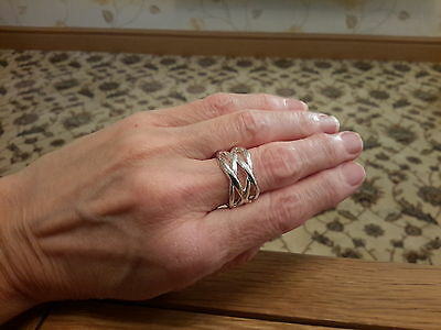 BRAND  NEW  925 STAMPED SILVER  RING SIZE R and gift box