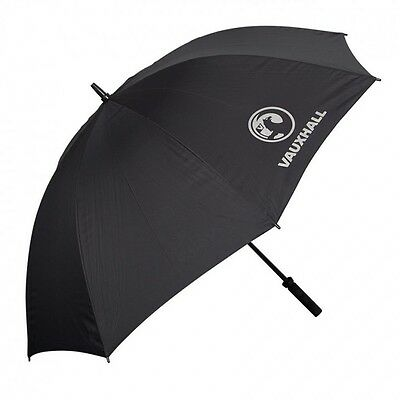 Black Golf Umbrella With Vauxhall Branding