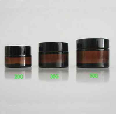 High Quality 5G 10G 20G 30G 50G amber glass Cosmetic Cream Jar Pot Bottles