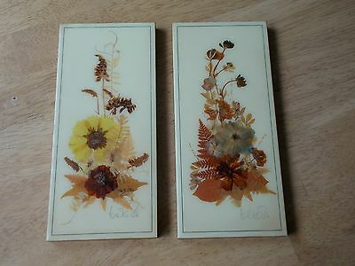 Henni Hanging Wall Plaque Hand Made Canada Pressed Preserved Flowers