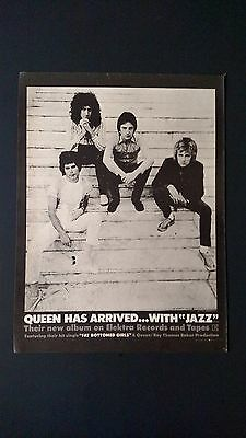 "Queen  ""fat Bottomed Girls""  (1978) Rare Original Print Promo Poster Ad"