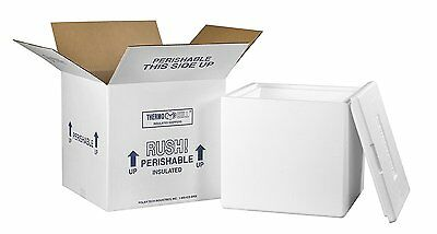 "Aviditi 240C Insulated Shipping Containers, 13""L x 13""W x 12 1/2""D"