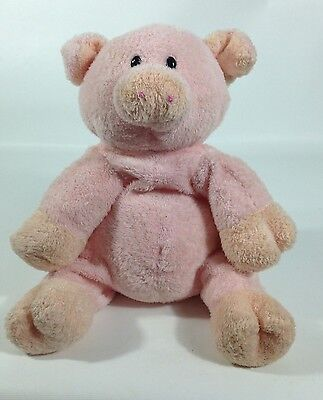 Ty Pluffies PIGGY Pig Pink Peach Soft Plush 2006 Stuffed Animal Lovey Toy