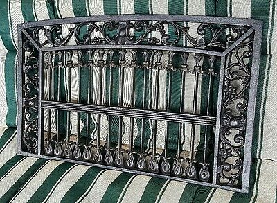 Rare High Victorian Gothic Architectural Salvage Iron Window Guard Grille
