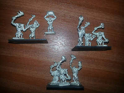 WARMASTER ** CHAOS / ORC TROLLS x3 STANDS ** NEVER PAINTED OOP #2
