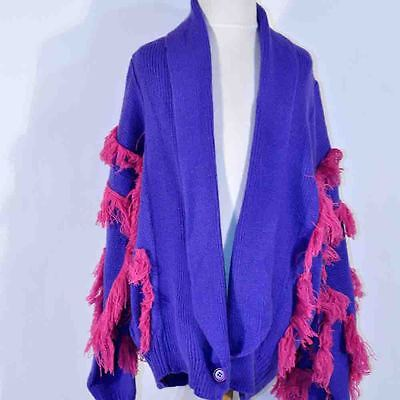 Vintage 80' 90's Oversized Purple Shaggy Sweater M 10-12