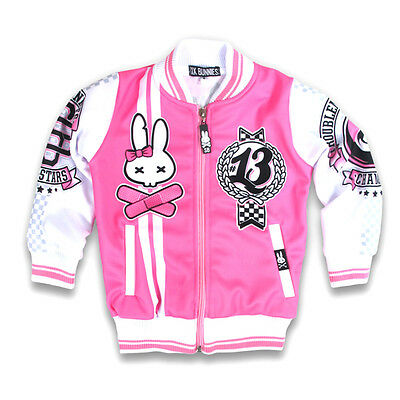 Six Bunnies Rockabilly Psycho College Jacke - Kinder Roller Skate Rocker Pink