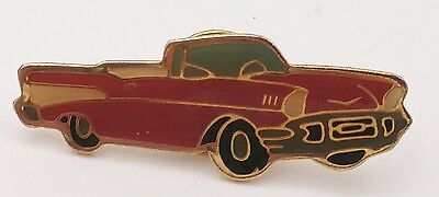 Swibco Red 1957 Chevy Convertible Car Goldtone Metal Pin - Taiwan
