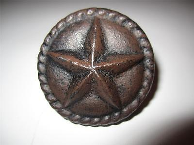 5 Brown Rustic Star Drawer Door Pulls Knobs Cast Iron Cabinet Hardware Western
