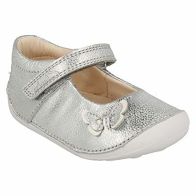 Girls Toddler Clarks Little Mia Hook & Loop Mary Jane Butterfly First Shoes Size