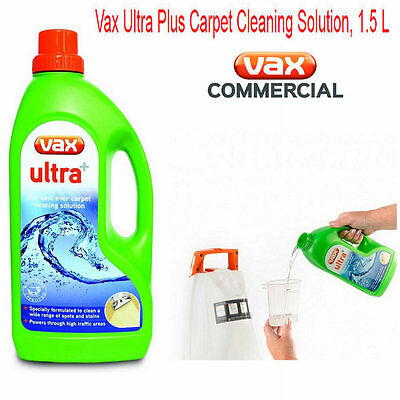 Vax Ultra+ CARPET CLEANING Shampoo Delicate Cleaner Washer Liquid Stain Remover