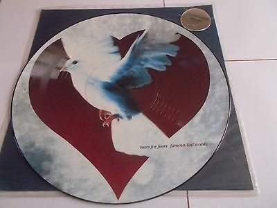 Tears For Fears 12 Picture Disc Famous Last Words 1990