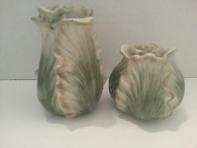 Fitz & Floyd Cabbage Salt and Pepper Shakers