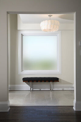 Plain Frosted Window Film Privacy Etched Glass Sticky Back Plastic Vinyl Glass =