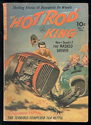 Hot Rod King (1952) #1 1st Print Norman Saunders Painted Cover Ziff Davis Good +