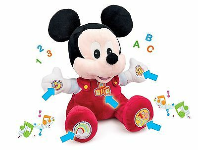 DISNEY Electronic Talking Baby Mickey Mouse Soft Plush Cuddle Toy- Brand New