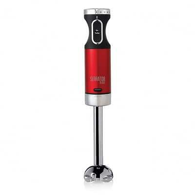 NEW Morphy Richards Accents Red Hand Blender with Serrator Blade 600W 402009