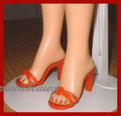 "2-1/8"" x 7/8"" RED High Heel Sandals Doll SHOES for Miss Revlon CISSY Dollikins"