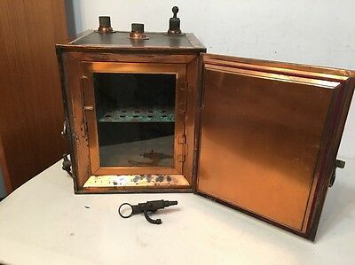 Antique Copper Lined Incubator Or Sterilizer Medical Laboratory Scientific