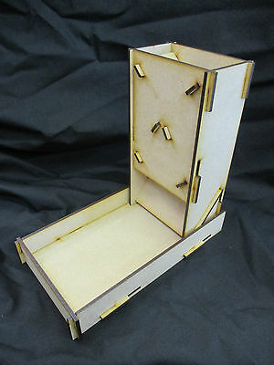 Compact Laser Cut Slot Together Dice Tower