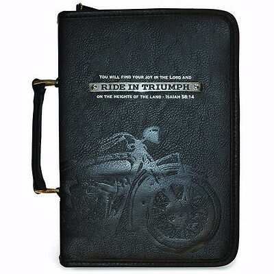 Bible Cover-God's Garage-Ride In Triumph-X-Large