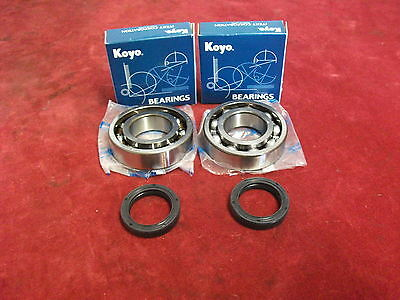 Aprilia Rs125 Crank Bearing & Seals X2. Koyo C4 Grade & R23 Double Lipped Seals