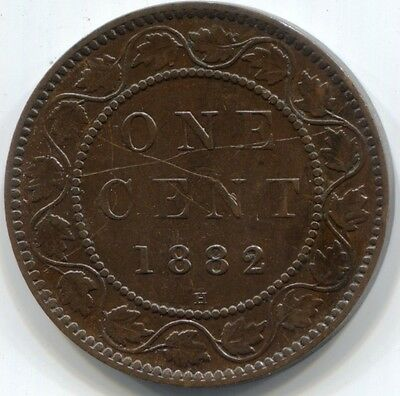 1882H CANADA ONE CENT Coin