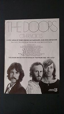 """The Doors """"other Voices"""" (1971) Rare Original Print Promo Poster Ad"""