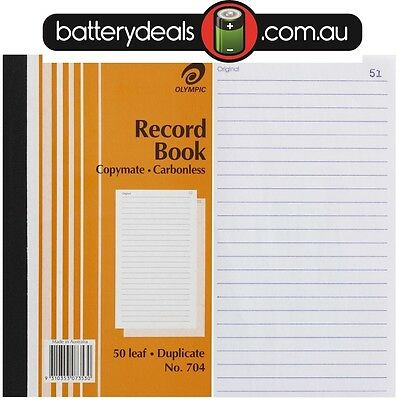 Olympic Record Book Carbonless Duplicate No.704 #704 140857 200x125mm