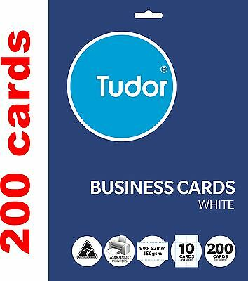 200 Blank Business cards Name tags 90x52mm 150gsm paper printable labels tag