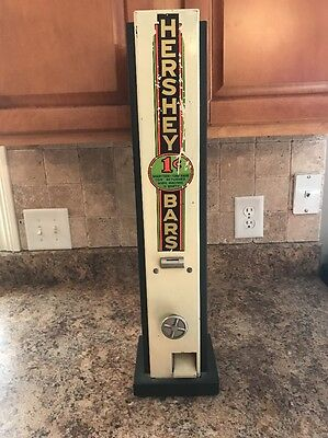 Vintage Hershey Candy Machine Coin Operated Penny Operated Rare Trade Simulator