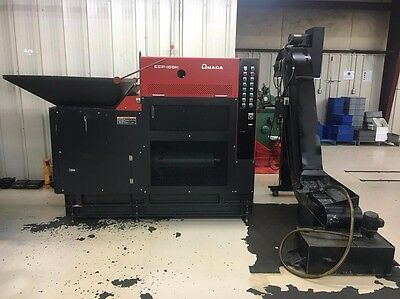 Amada CCP-100H Chip Compactor Scrap Puck Briquette Press with Conveyor