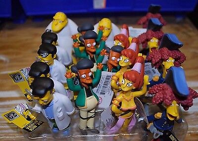 Lot of 19. Simpsons 20th Anniversary Figurines Series. Leon, Dr. Nick, Apu more