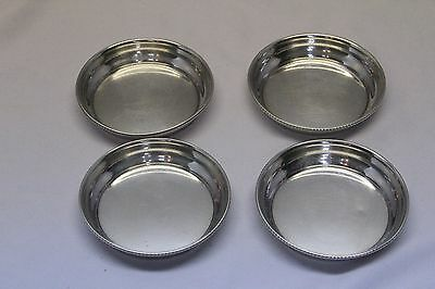 Vintage Signed Sterling 2815 set of four small plates