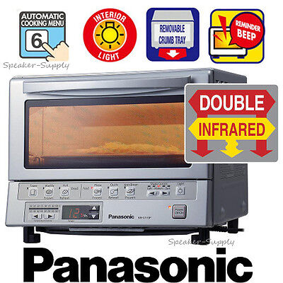 Panasonic Flash Xpress Toaster Oven Silver Double Infrared w/ Light New NB-G110P