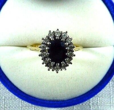 1.48ct Natural Sapphire/Diamond Solid 10k Gold Michael Hill Jeweller Ring