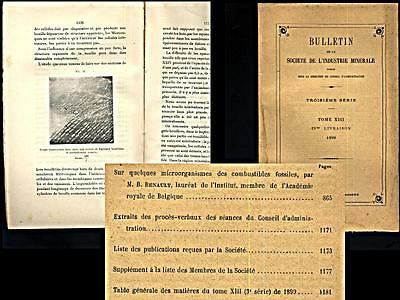 Microorganismes Des Combustibles Fossiles (1)- 1899 - Sct Industrie Minerale Min