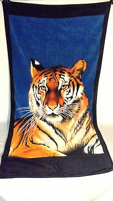 """Beautifully brillant colored tiger oversized towel 24"""" x 64"""""""