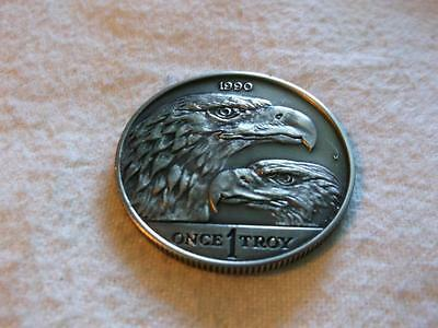 Canada 1990 1 Oz Silver Round Eagles Very Rare See Description For Details.