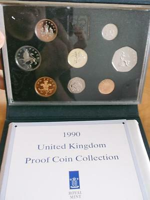 Great Britain 1990 Proof Set With Coa And Box    X1087