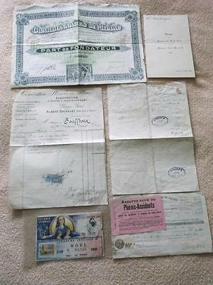 France Lot Of Various Old Documents A1734